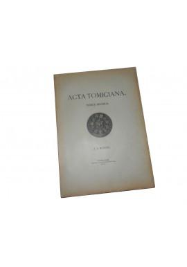 Acta Tomiciana Tomus Decimus T. X 1899r