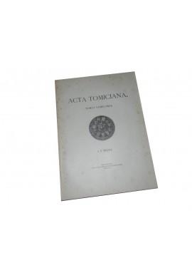 Acta Tomiciana Tomus Undecimus T. XI 1901r
