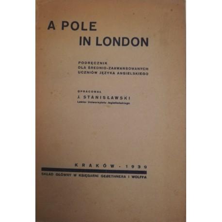 A Pole in London Podręcznik dla średnio-zaawansowanych uczniów języka angielskiego J. Stanisławski (opr.)